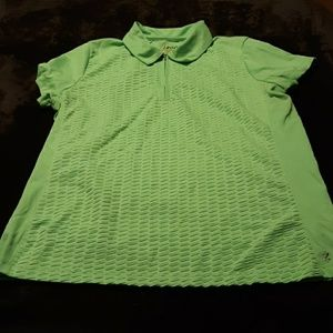 Womens green IZOD polo